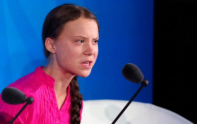 greta thunberg UN ομιλια Ηνωμενα Εθνη ακτιβισμος ακτιβιστρια νεοι κλιματικη αλλαγη μελλον της Γης αυξηση θερμοκρασιας φαινομενο θερμοκηπιου οικολογια βιγκανισμος