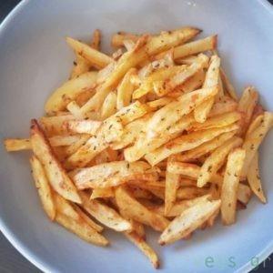 τηγανιτες πατατες, στον φουρνο, φουρνιστες, ψητες, συνταγη, vegan